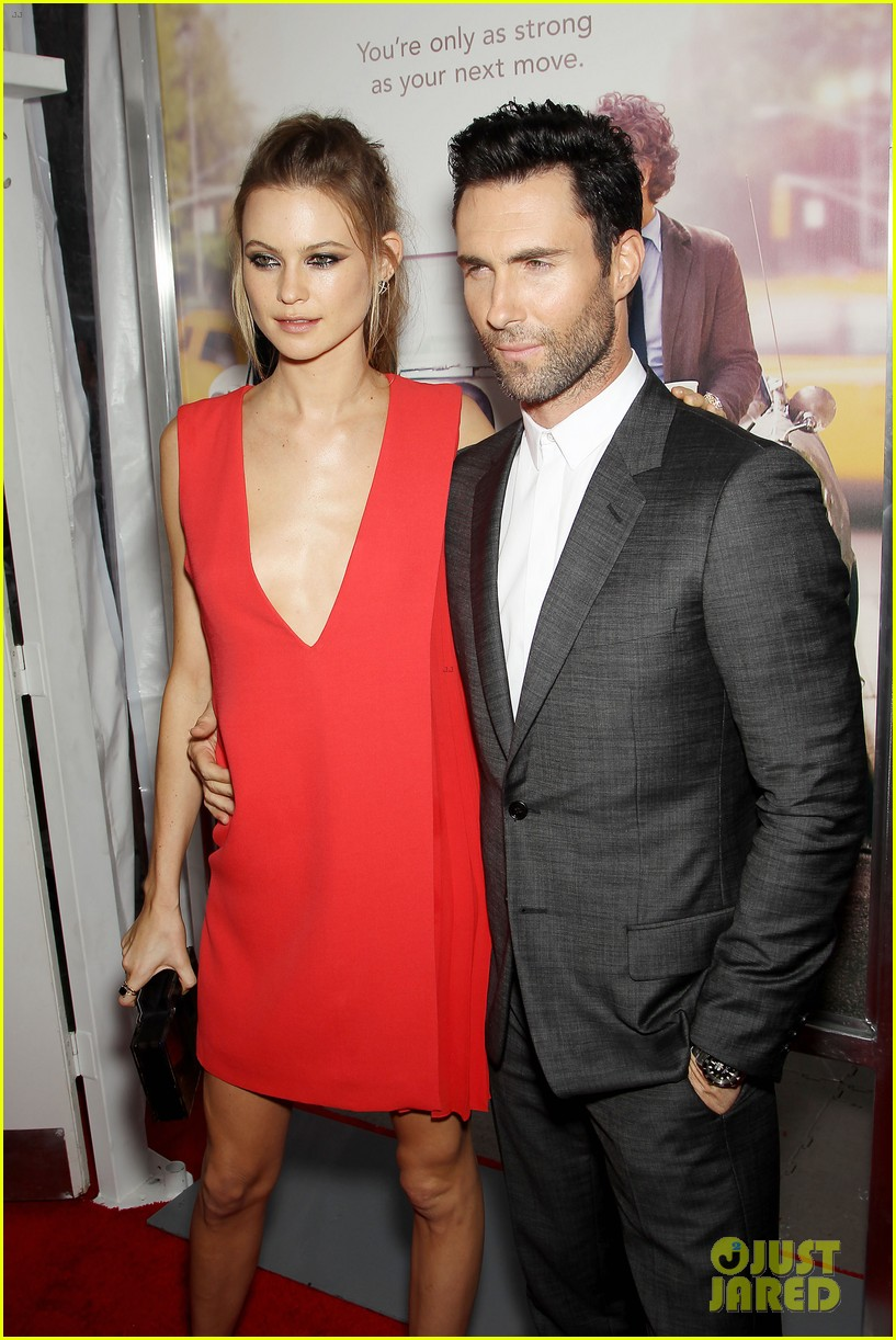 adam levine behati prinsloo begin again new york premiere 083143448