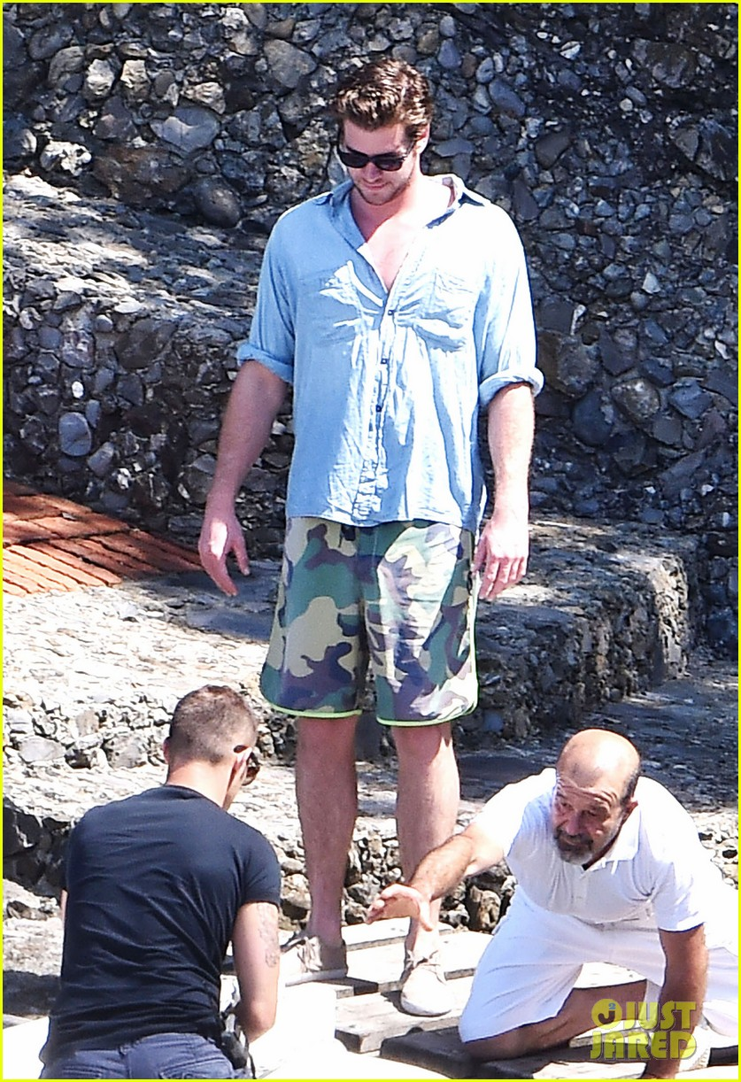 liam hemsworth takes a vacation in portofino 073144844