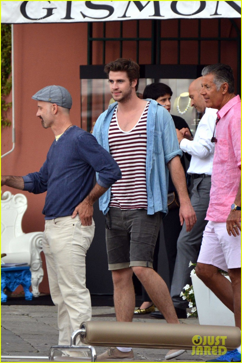 liam hemsworth takes a vacation in portofino 213144858