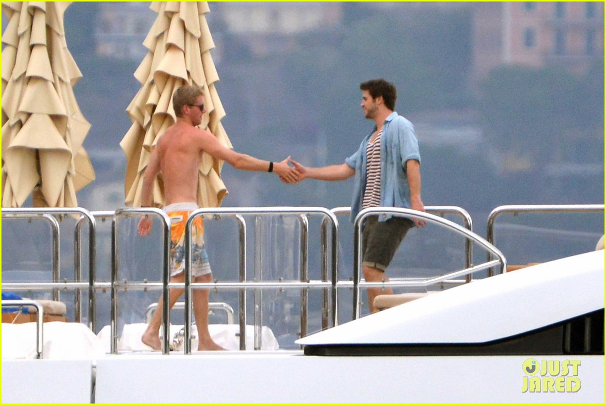 liam hemsworth takes a vacation in portofino 283144865