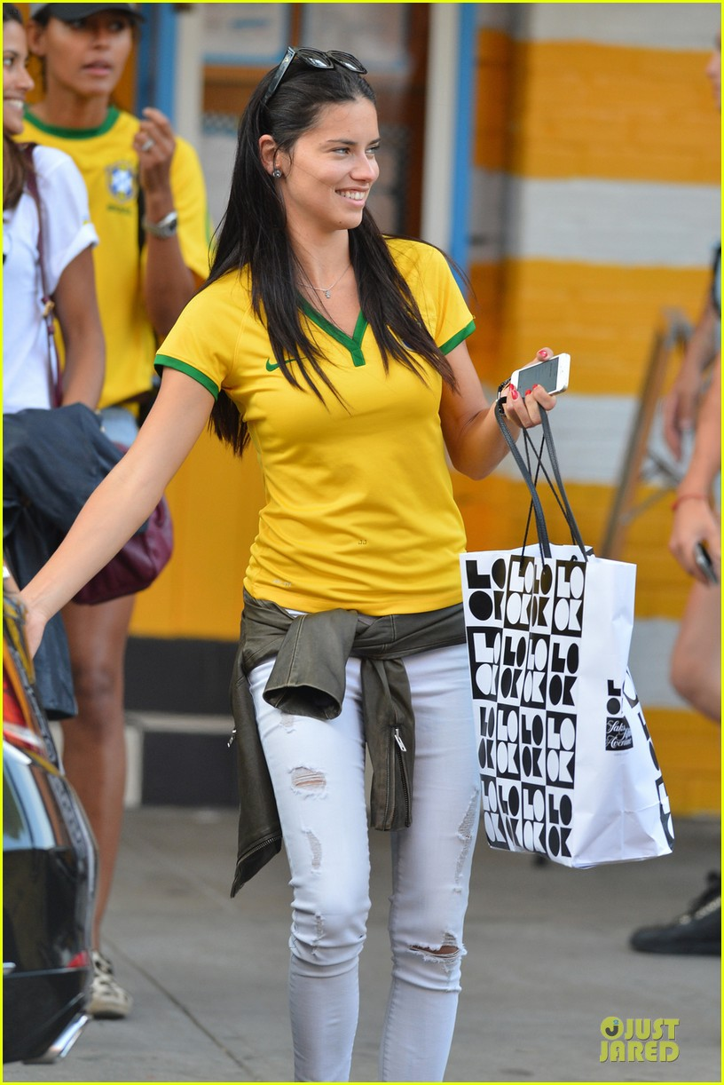 adriana lima kicks soccer ball during world cup 033142234