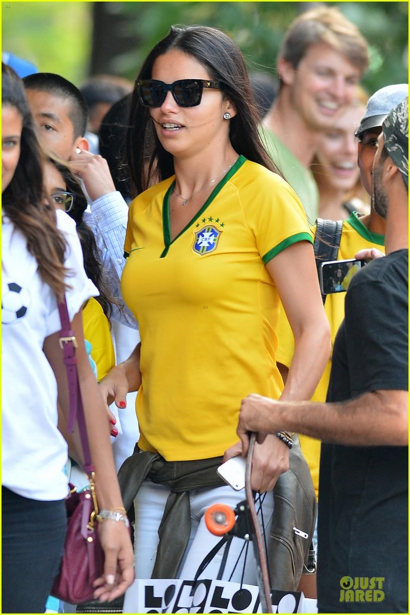 adriana lima kicks soccer ball during world cup 043142235