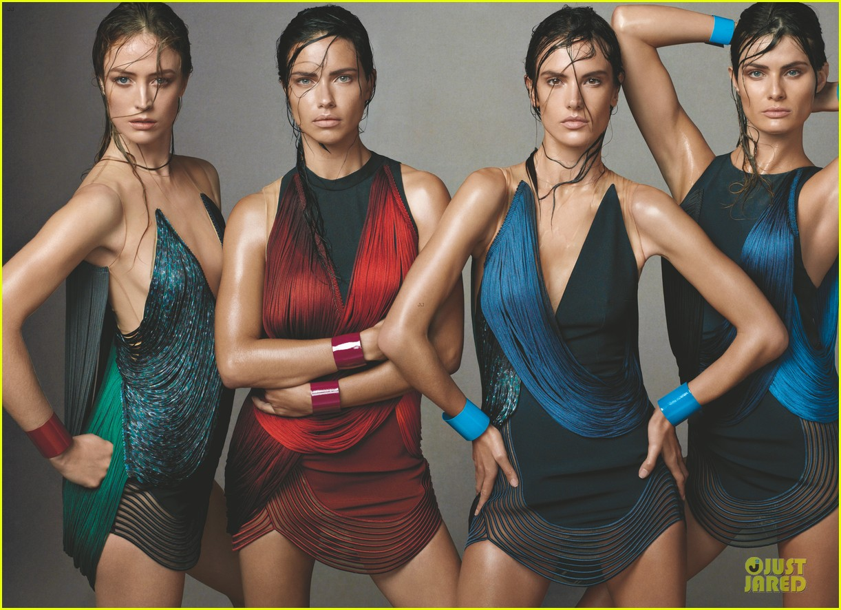adriana lima alessandra ambrosio wet hair for vogue feature 013132573