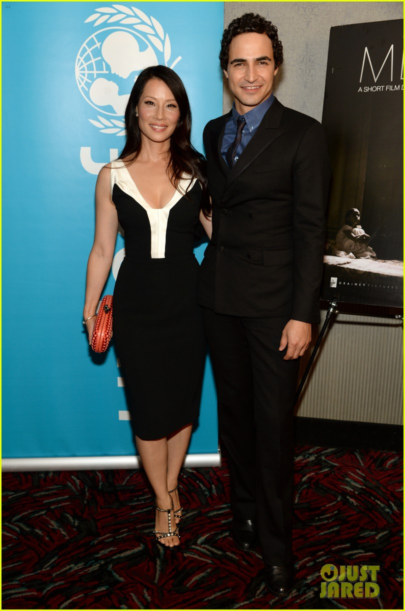 lucy liu gets support from carla gugino at her meena premiere 103144649