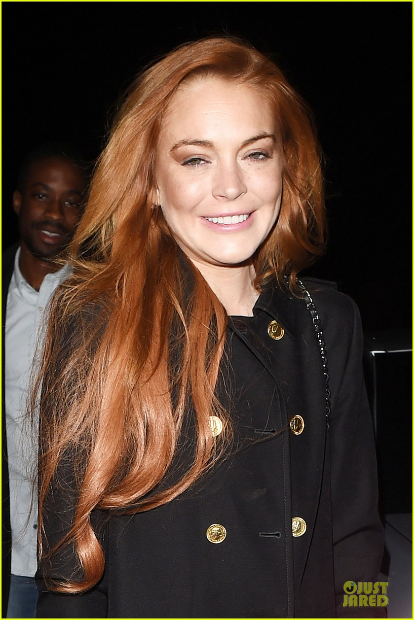 lindsay lohan change it up for dinner 153132779