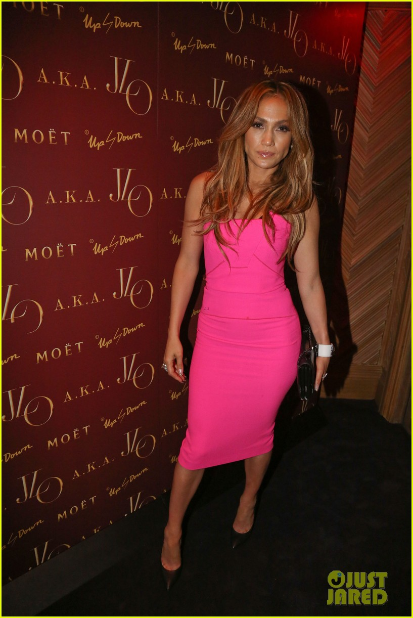 jennifer lopez is lady in pink for a k a album release party 013137859