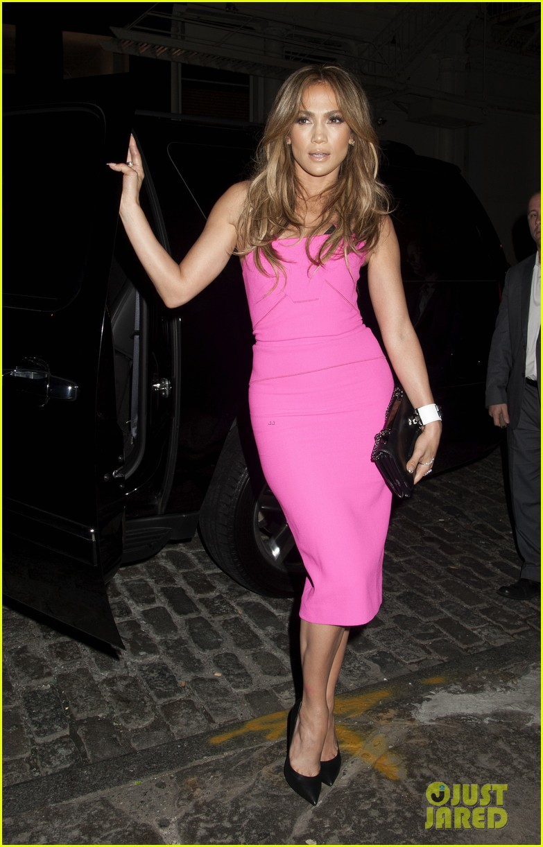 jennifer lopez is lady in pink for a k a album release party 023137860