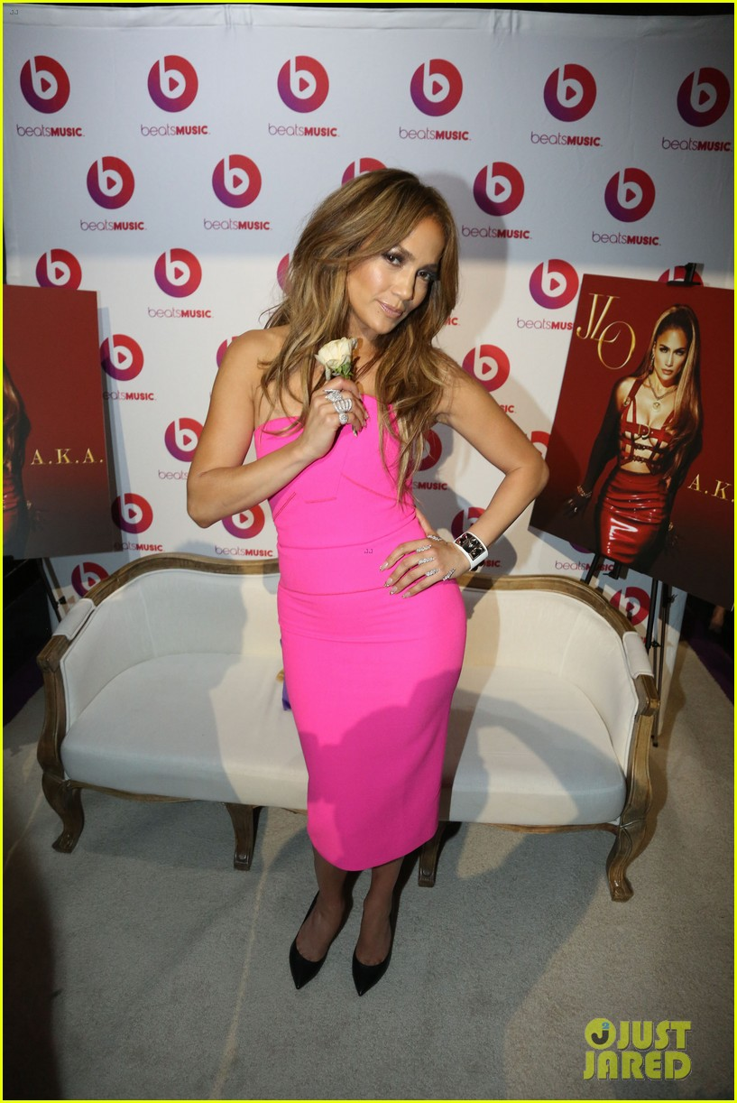 jennifer lopez is lady in pink for a k a album release party 053137863