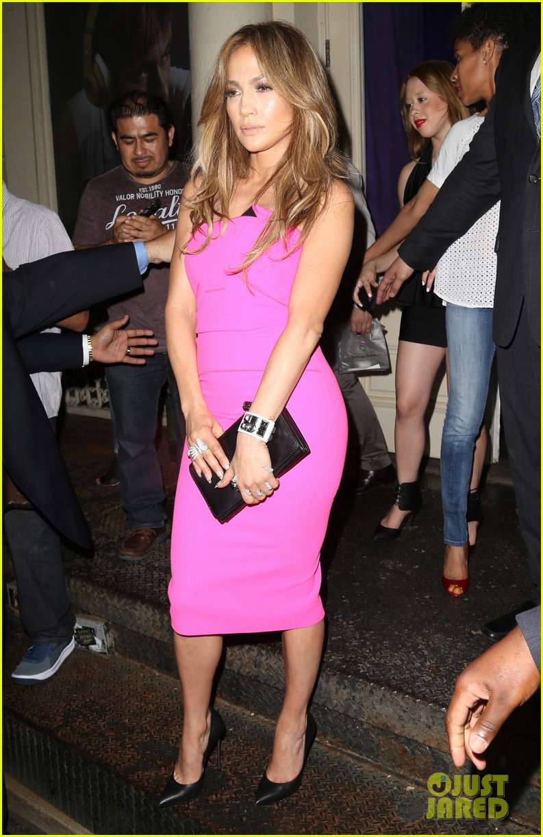 jennifer lopez is lady in pink for a k a album release party 083137866