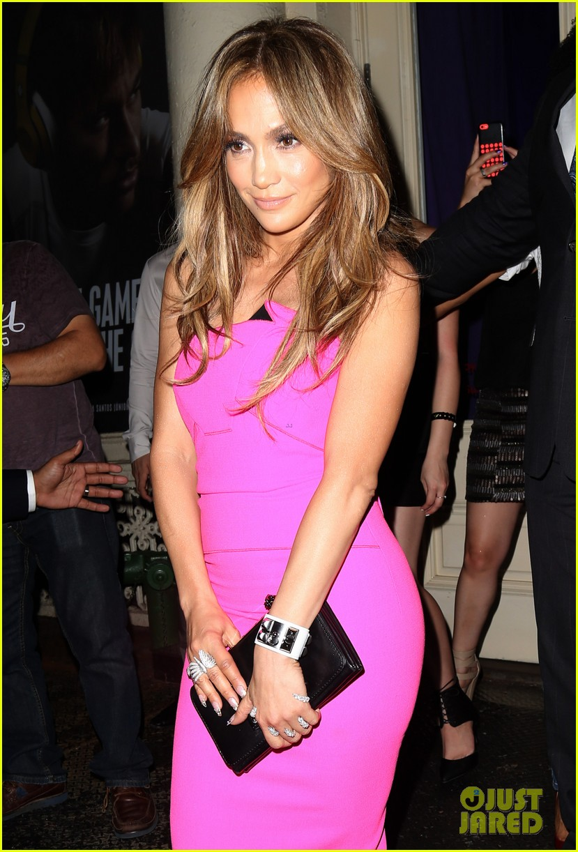 jennifer lopez is lady in pink for a k a album release party 093137867