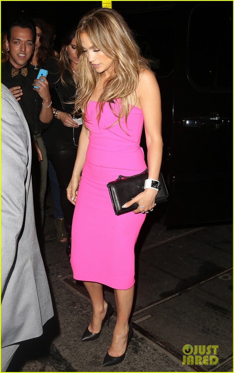 jennifer lopez is lady in pink for a k a album release party 11
