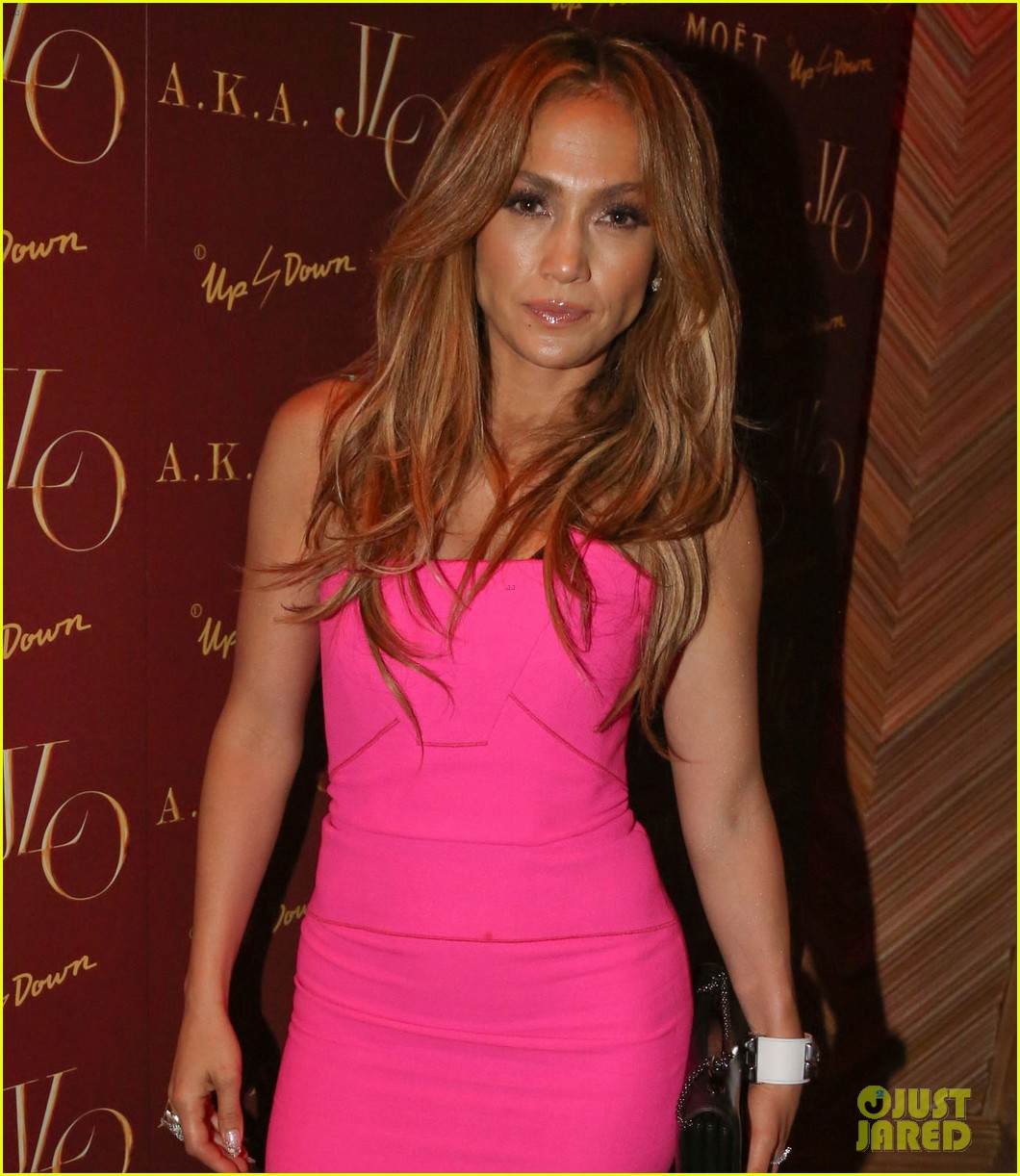 jennifer lopez is lady in pink for a k a album release party 123137870