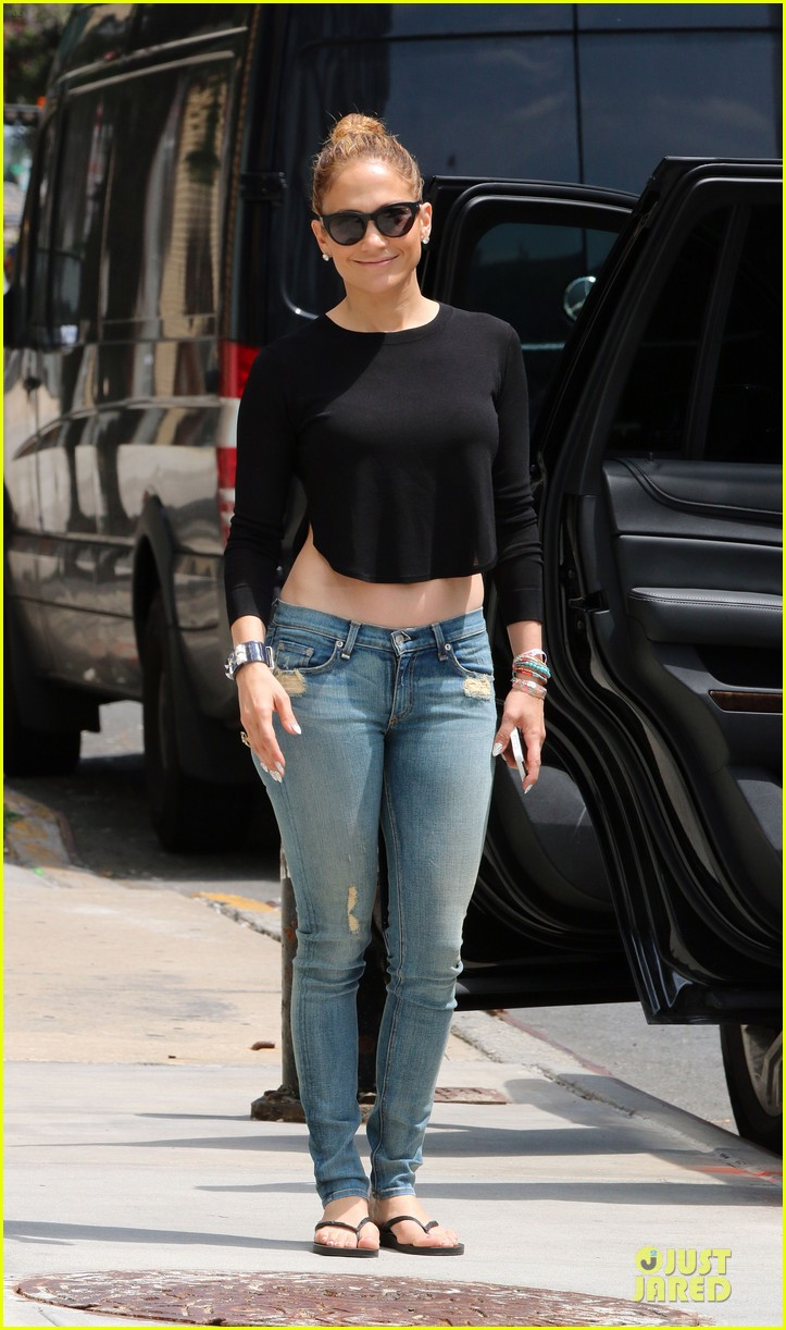 jennifer lopez bare midriff sight to see in nyc 063147088