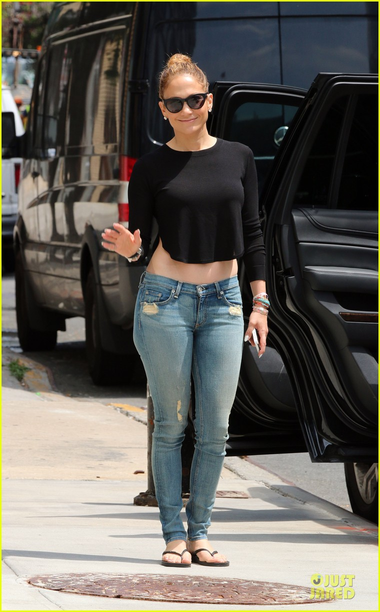 jennifer lopez bare midriff sight to see in nyc 073147089