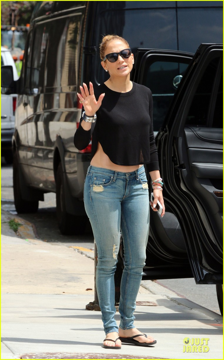 jennifer lopez bare midriff sight to see in nyc 133147095