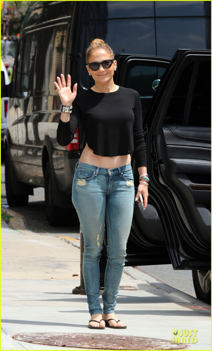 jennifer lopez bare midriff sight to see in nyc 163147098
