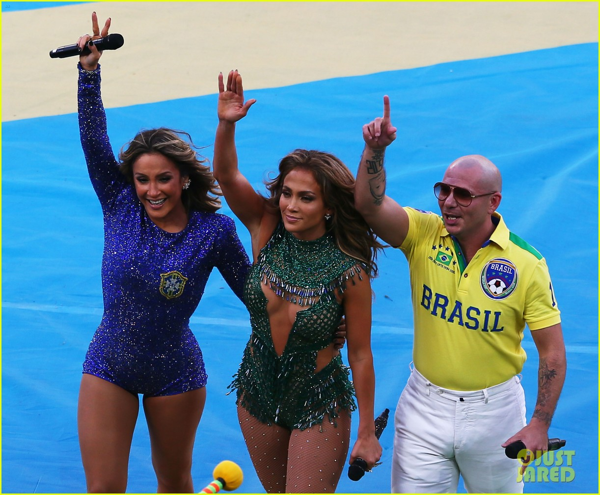 jennifer lopez performs at world cup 2014 opening ceremony with pitbull claudia leitte 113134069