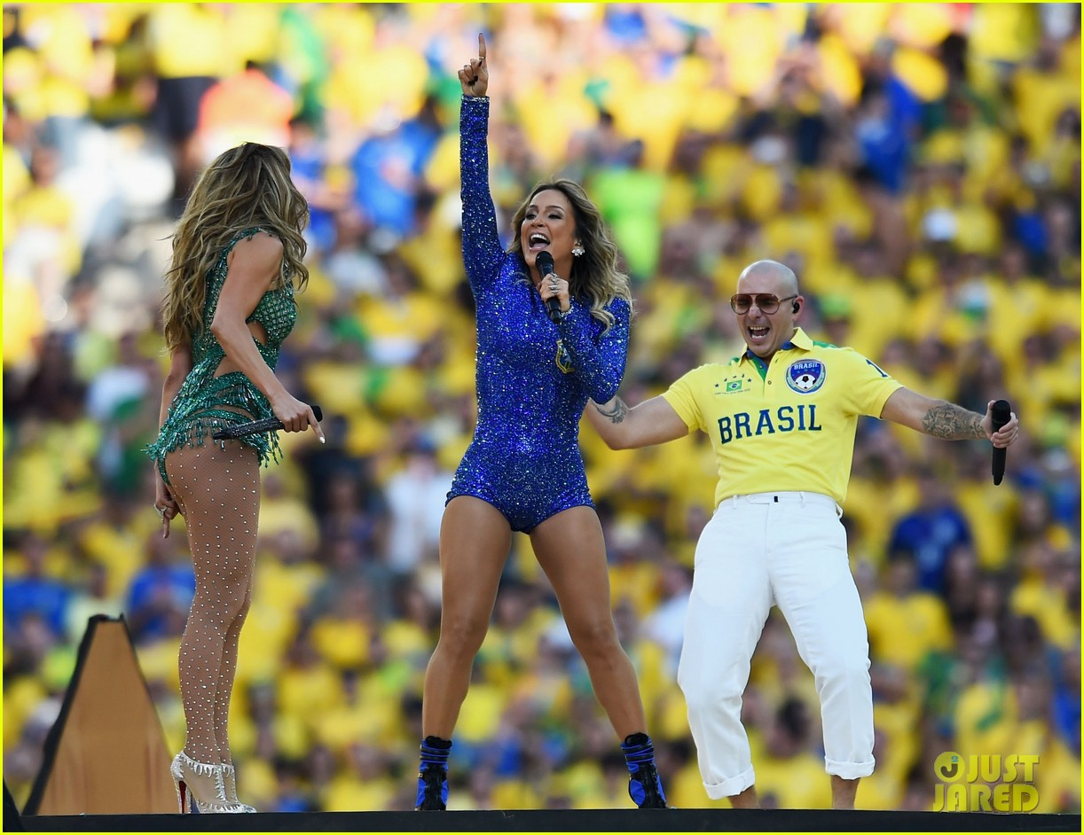 jennifer lopez performs at world cup 2014 opening ceremony with pitbull claudia leitte 153134073
