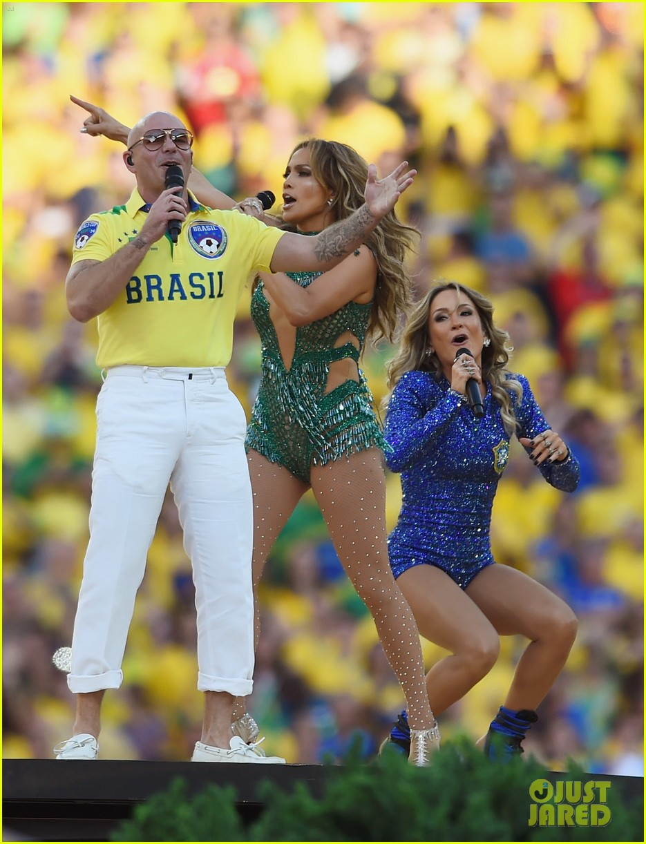 jennifer lopez performs at world cup 2014 opening ceremony with pitbull claudia leitte 163134074