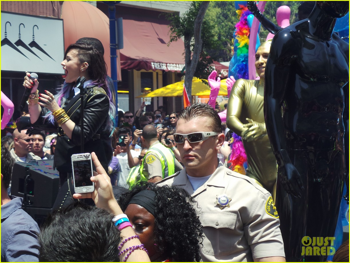 demi lovato really dont care music video shoot la pride 2014 083131177