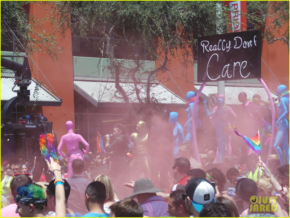 demi lovato really dont care music video shoot la pride 2014 113131180