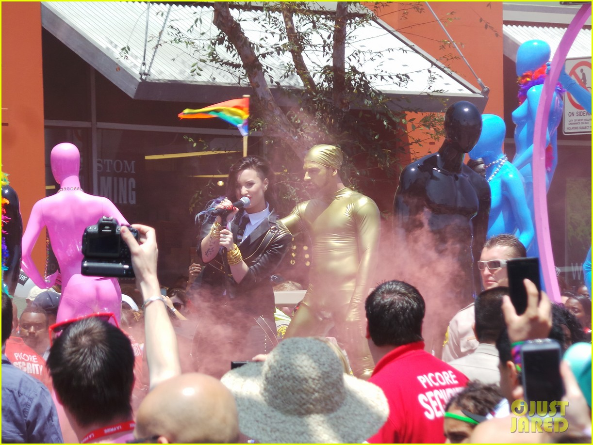 demi lovato really dont care music video shoot la pride 2014 123131181