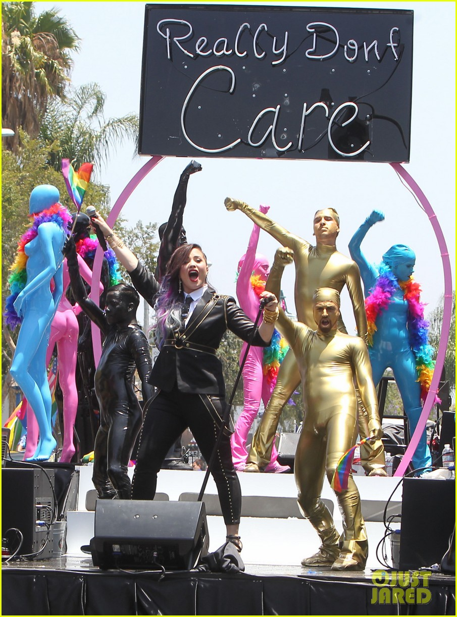 demi lovato really dont care music video shoot la pride 2014 143131183