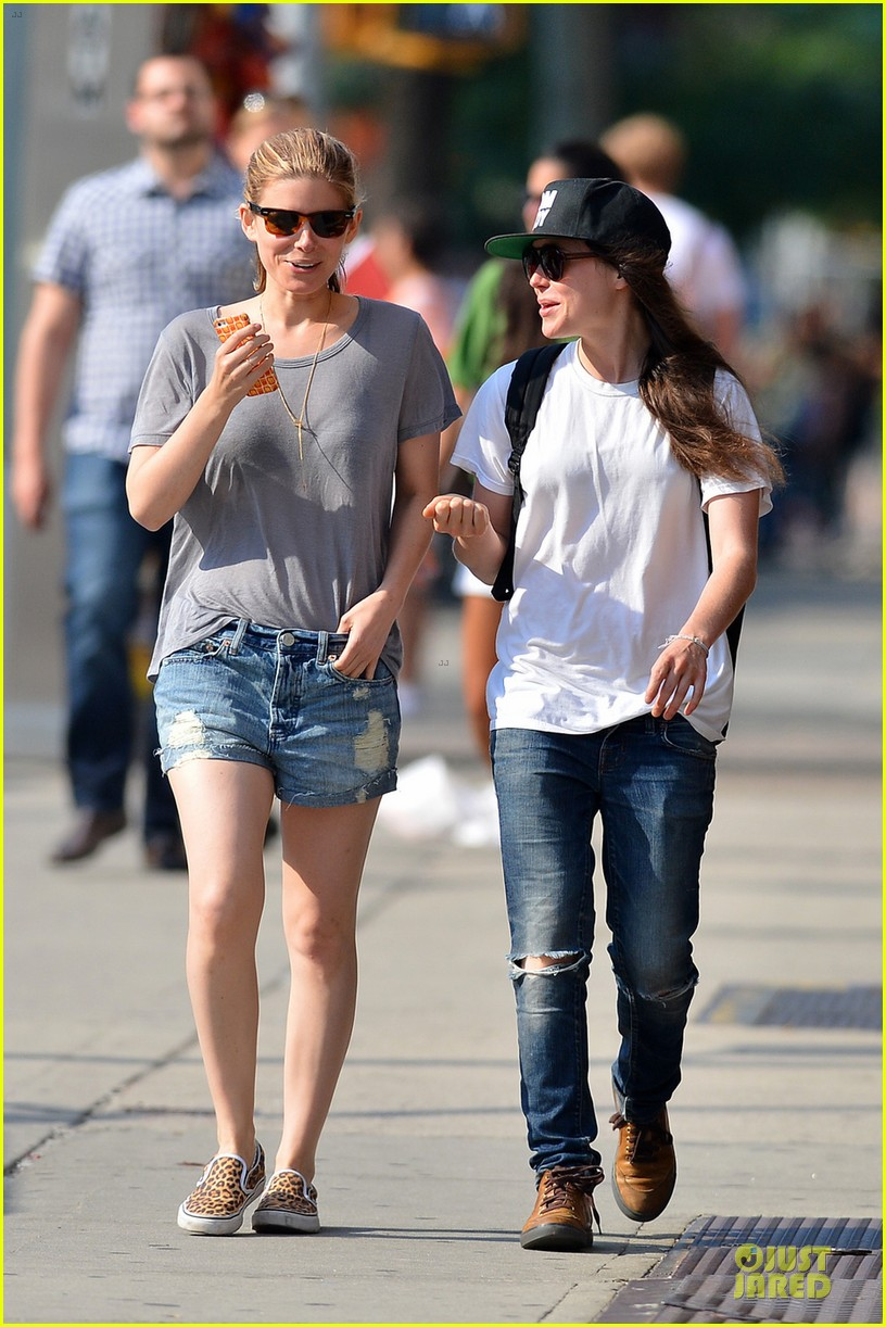 kate mara meets up with ellen page in see through top 01