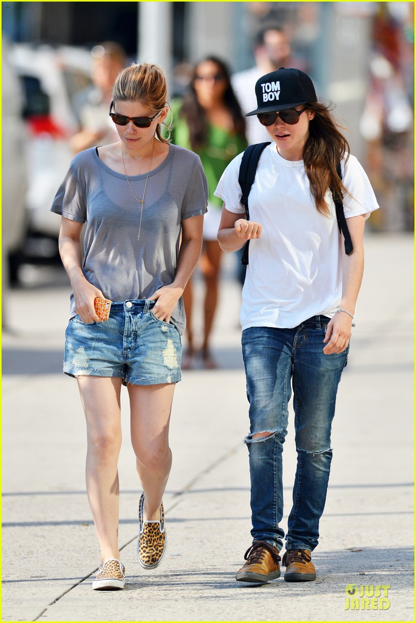 kate mara meets up with ellen page in see through top 023137700