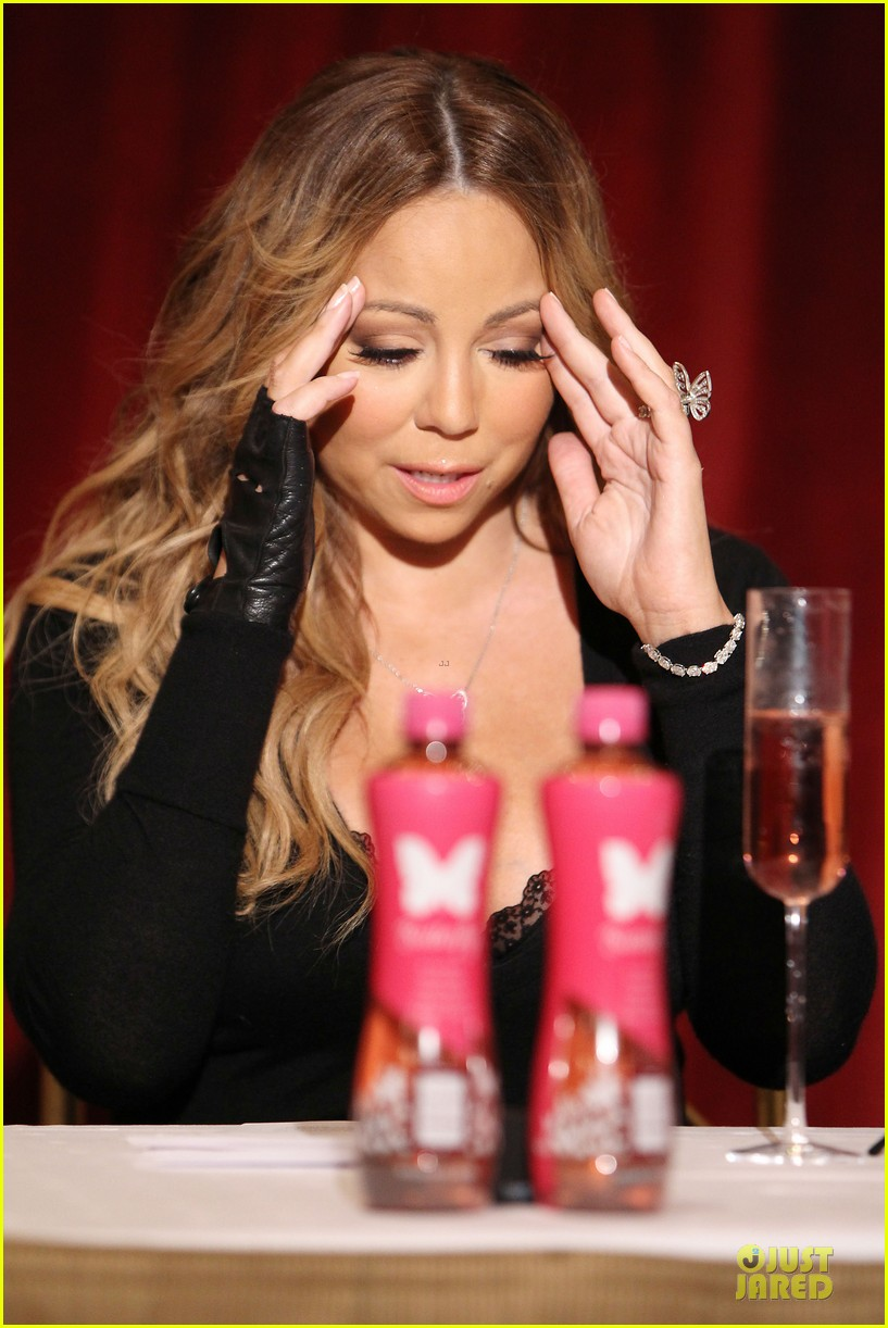 mariah carey bra gets exposure at butterfly launch 133132085