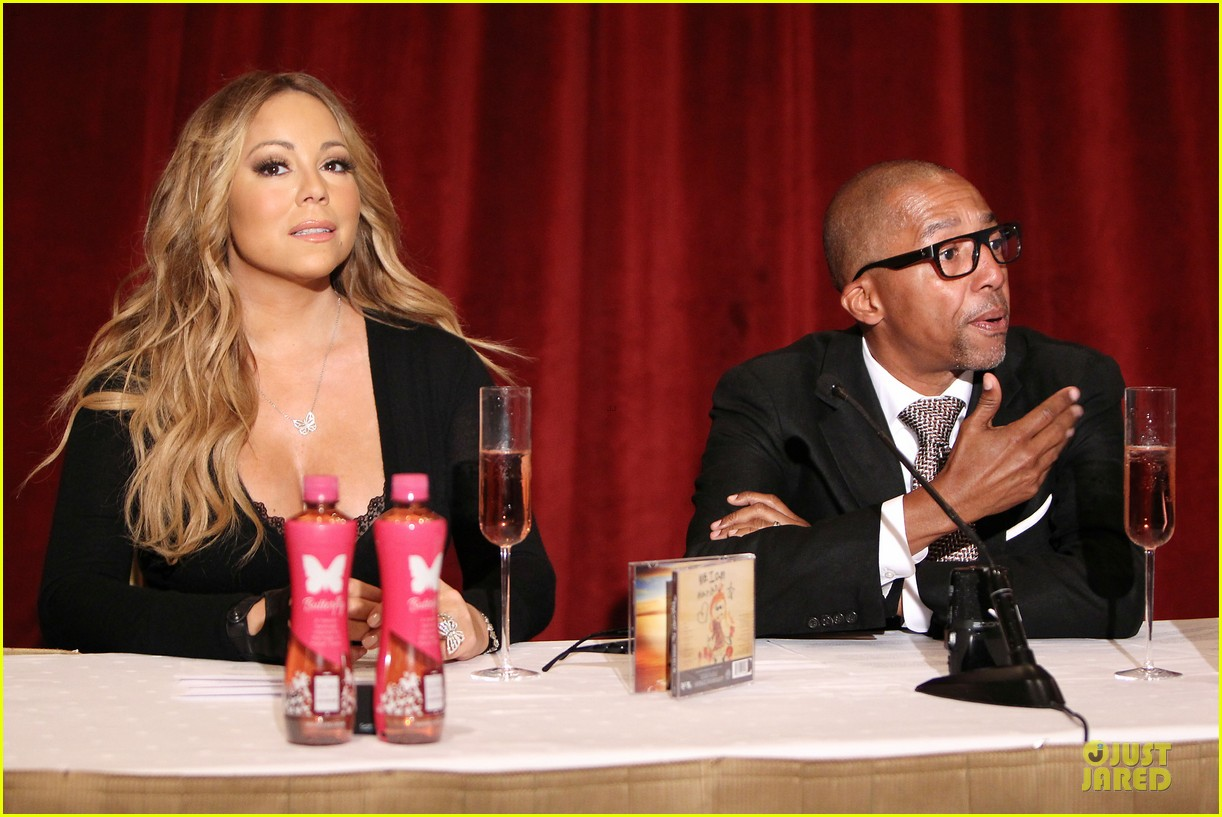 mariah carey bra gets exposure at butterfly launch 14