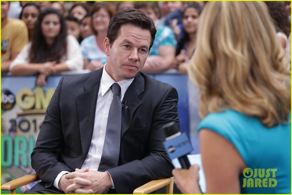 mark wahlberg promotes transformers age of extinction on gma 013143074