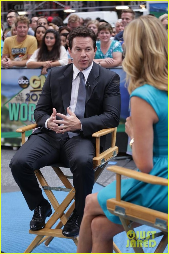 mark wahlberg promotes transformers age of extinction on gma 02