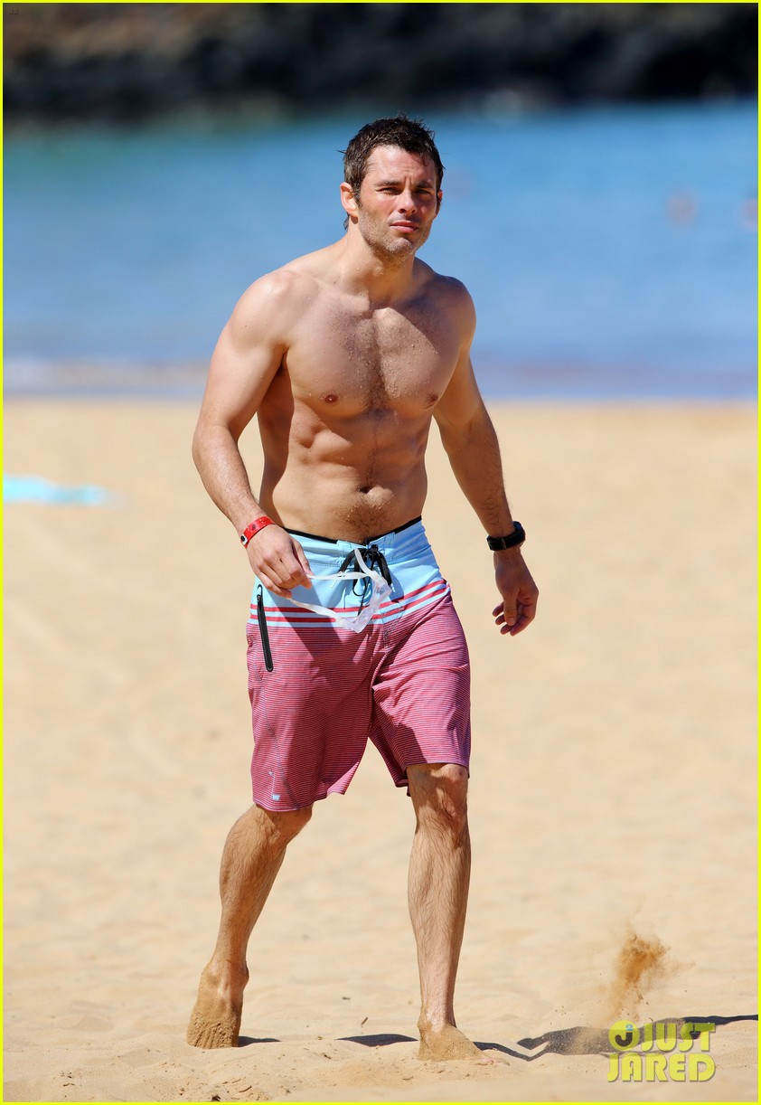shirtless james marsden shows ripped body in hawaii 223131793
