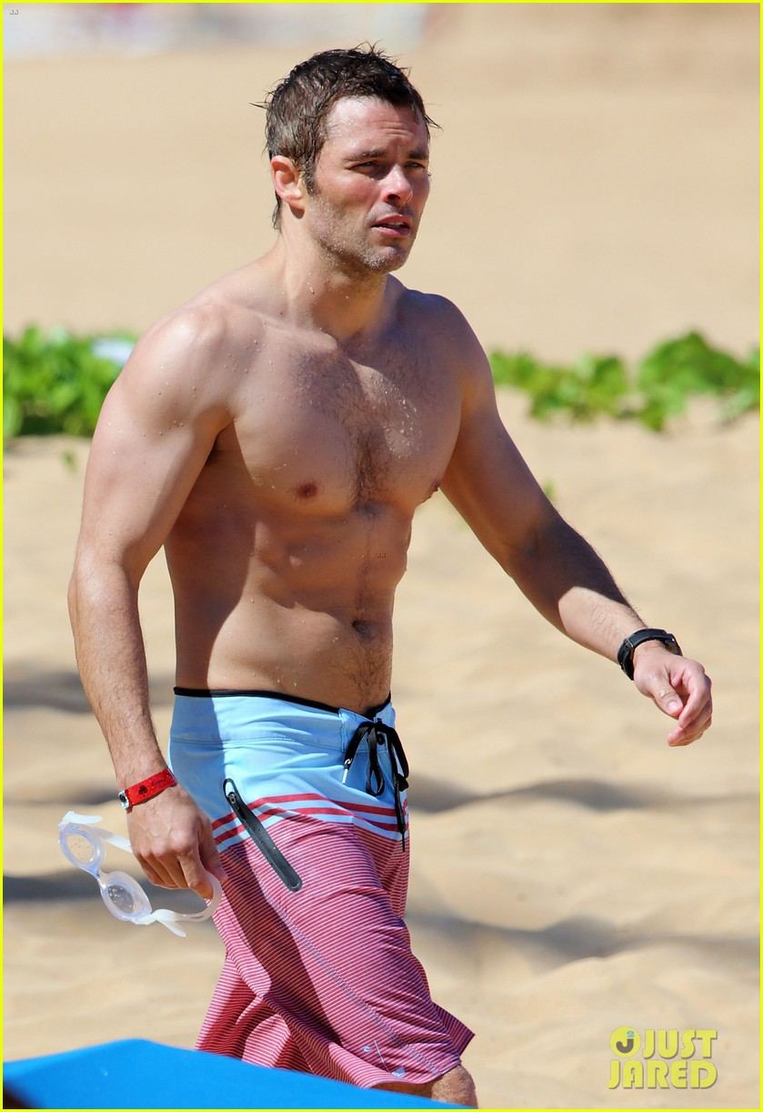 shirtless james marsden shows ripped body in hawaii 253131796