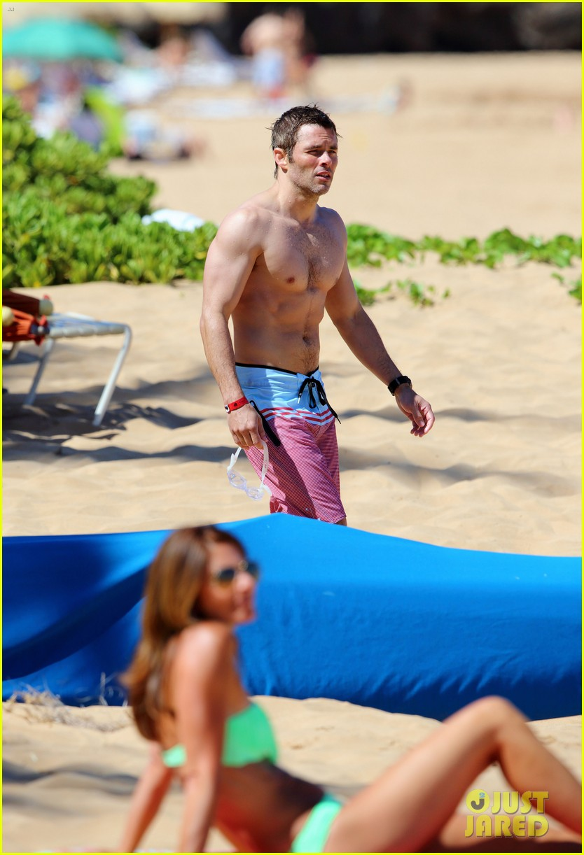 shirtless james marsden shows ripped body in hawaii 263131797