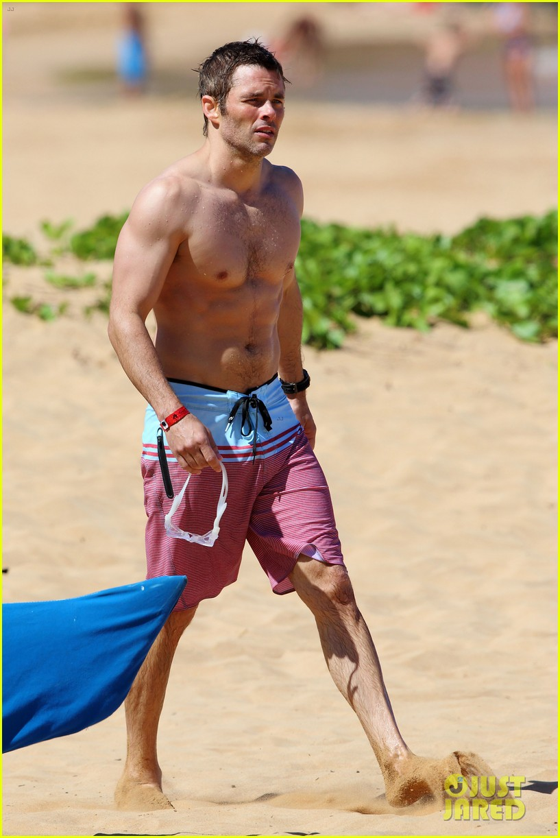 shirtless james marsden shows ripped body in hawaii 273131798