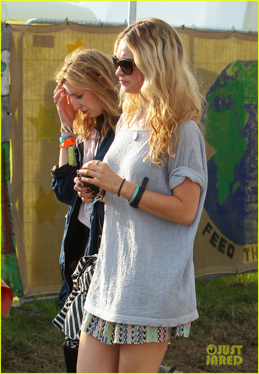 matt smith lily james attend glastonbury festival 023146866