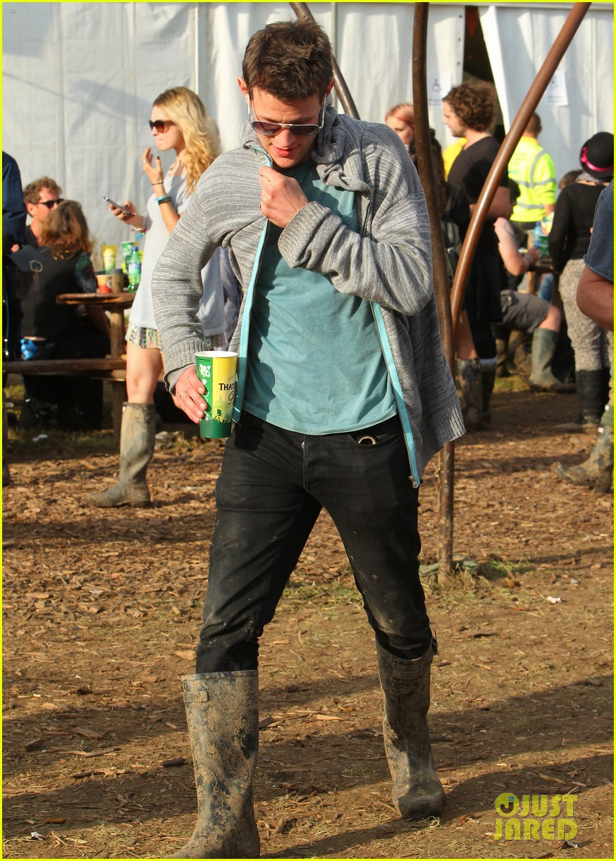 matt smith lily james attend glastonbury festival 08