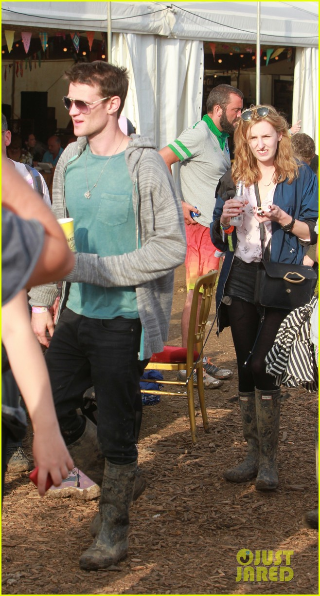 matt smith lily james attend glastonbury festival 113146875