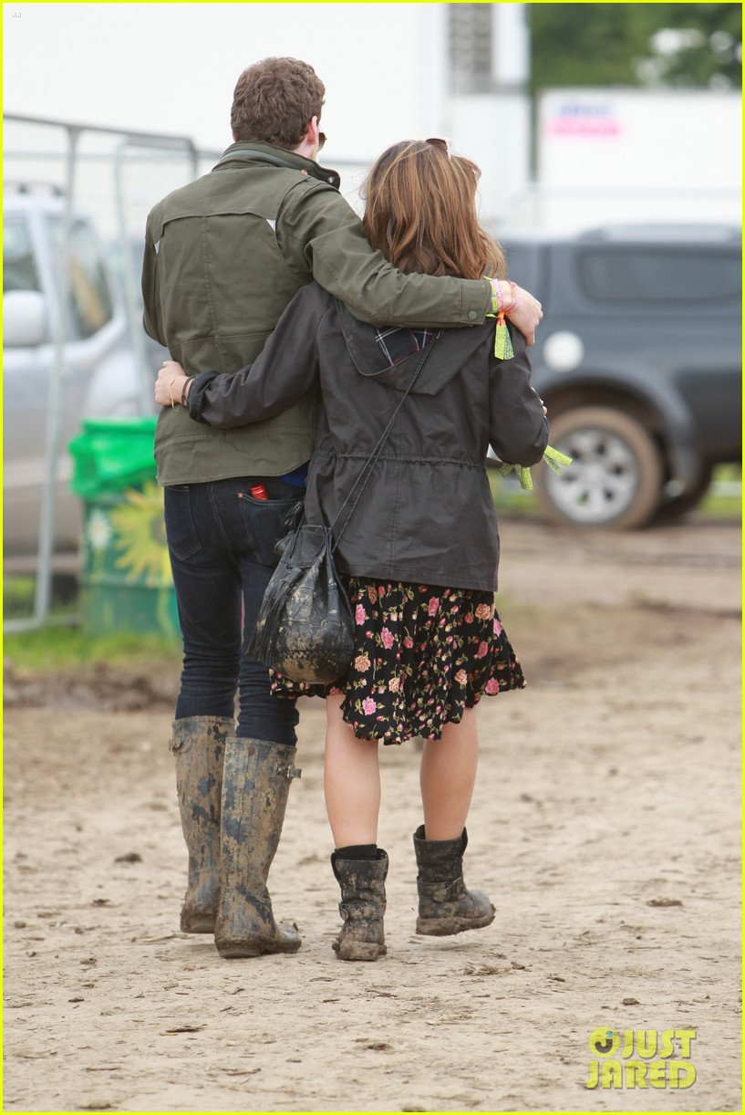 matt smith lily james attend glastonbury festival 133146877