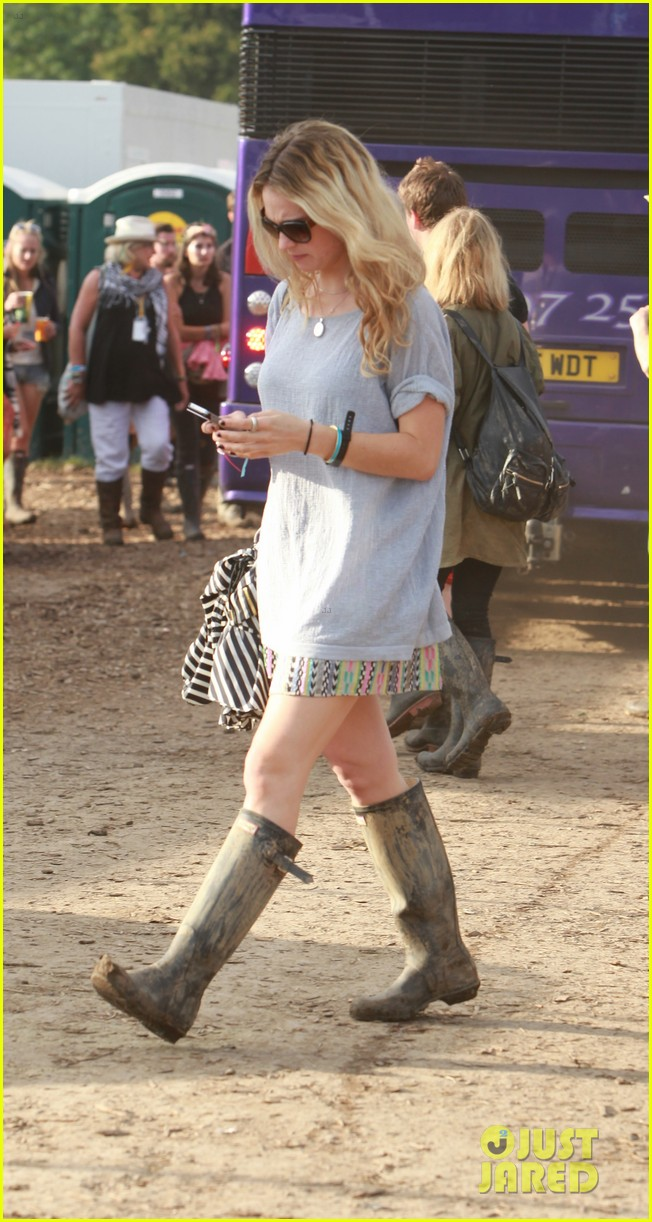 matt smith lily james attend glastonbury festival 193146883
