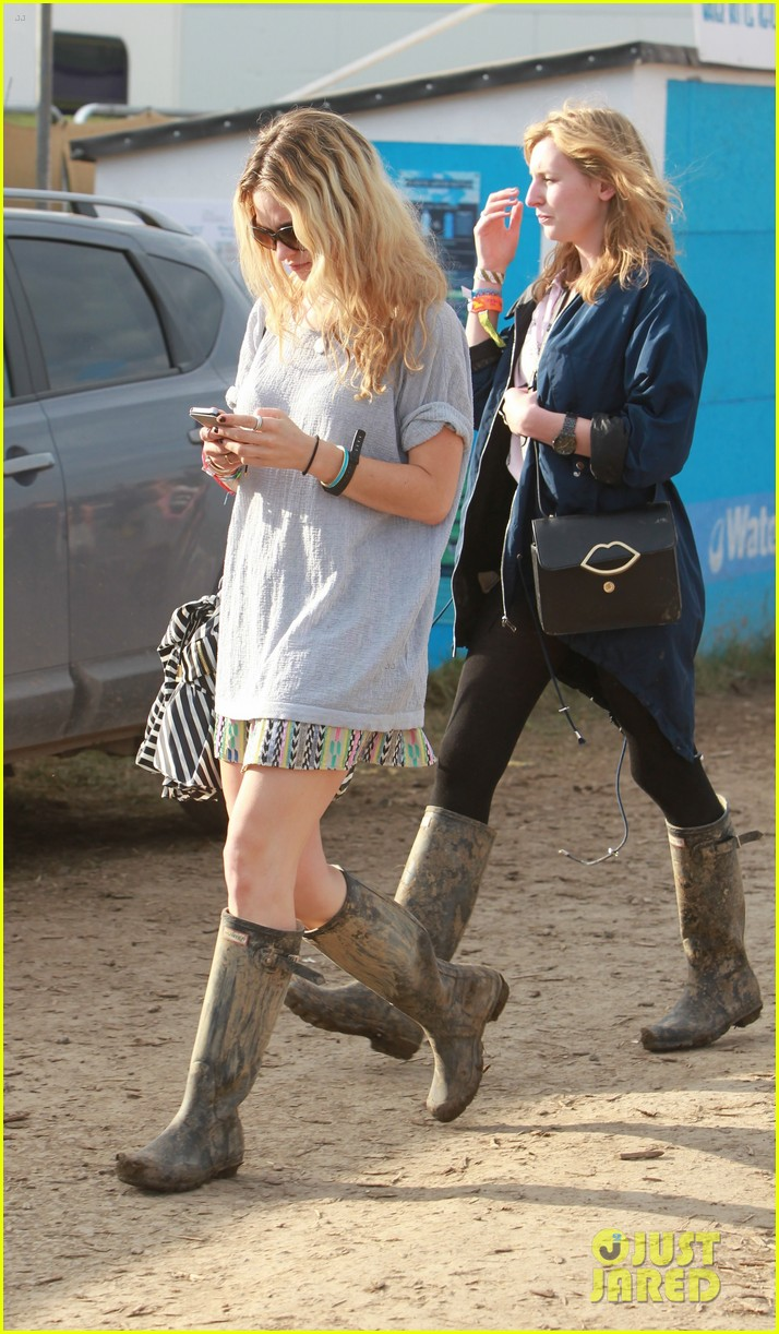 matt smith lily james attend glastonbury festival 21