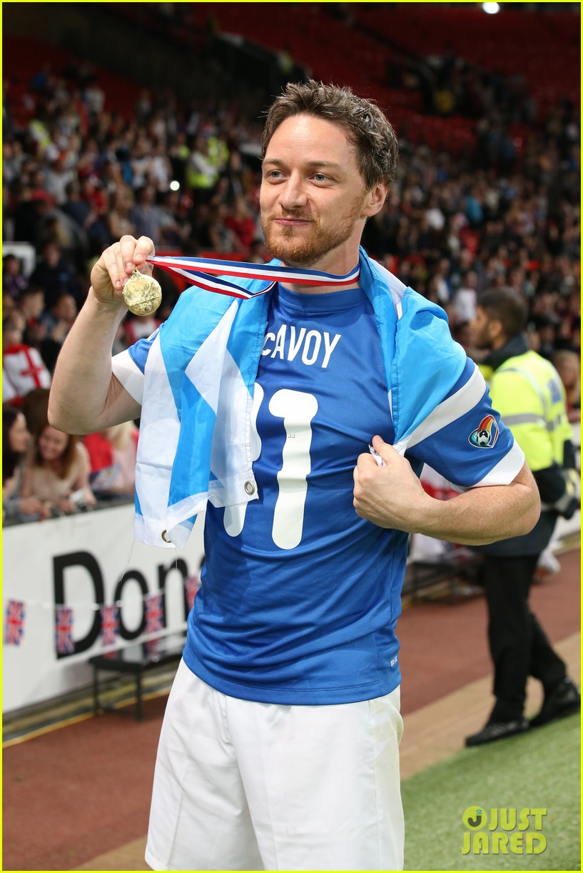 james mcavoy jeremy renner help tackle child poverty at soccer aid 2014 043131628