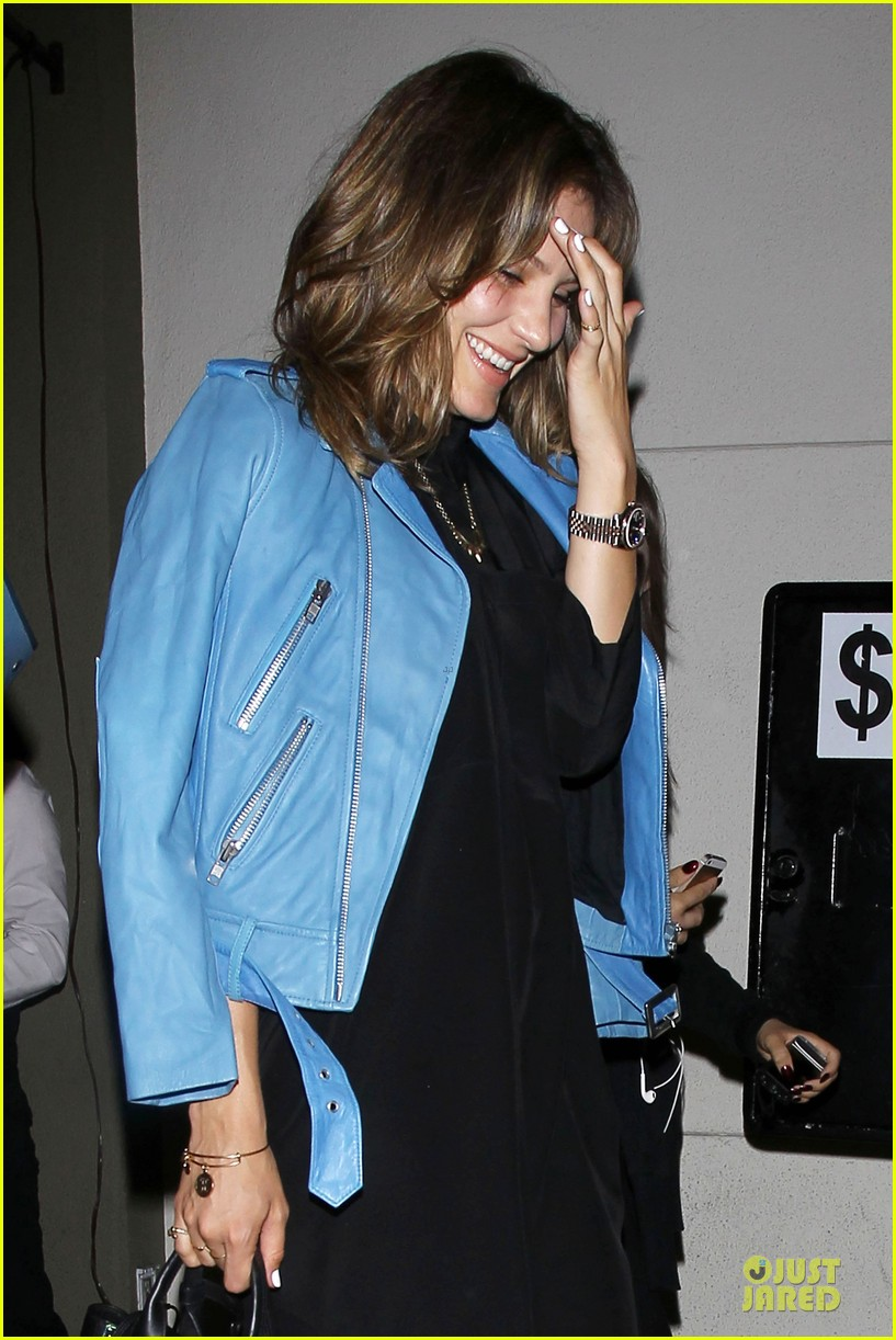 katharine mcphee likes to pair black with cool colored jackets 063137603