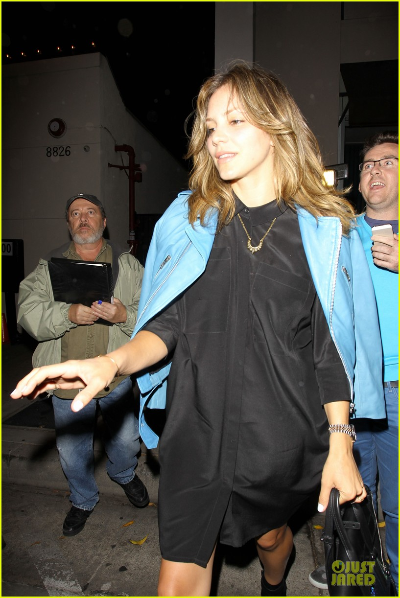 katharine mcphee likes to pair black with cool colored jackets 103137607