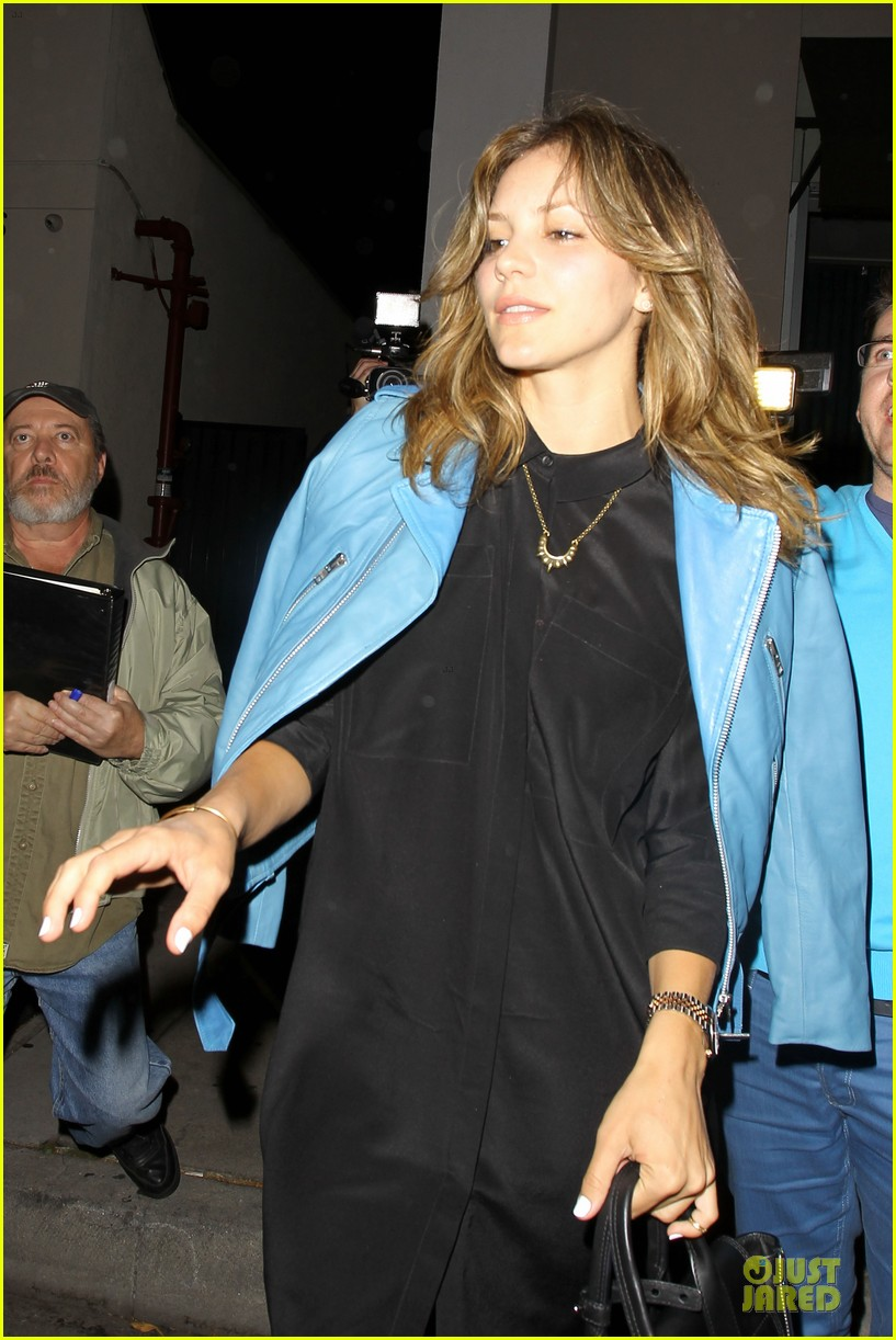katharine mcphee likes to pair black with cool colored jackets 113137608