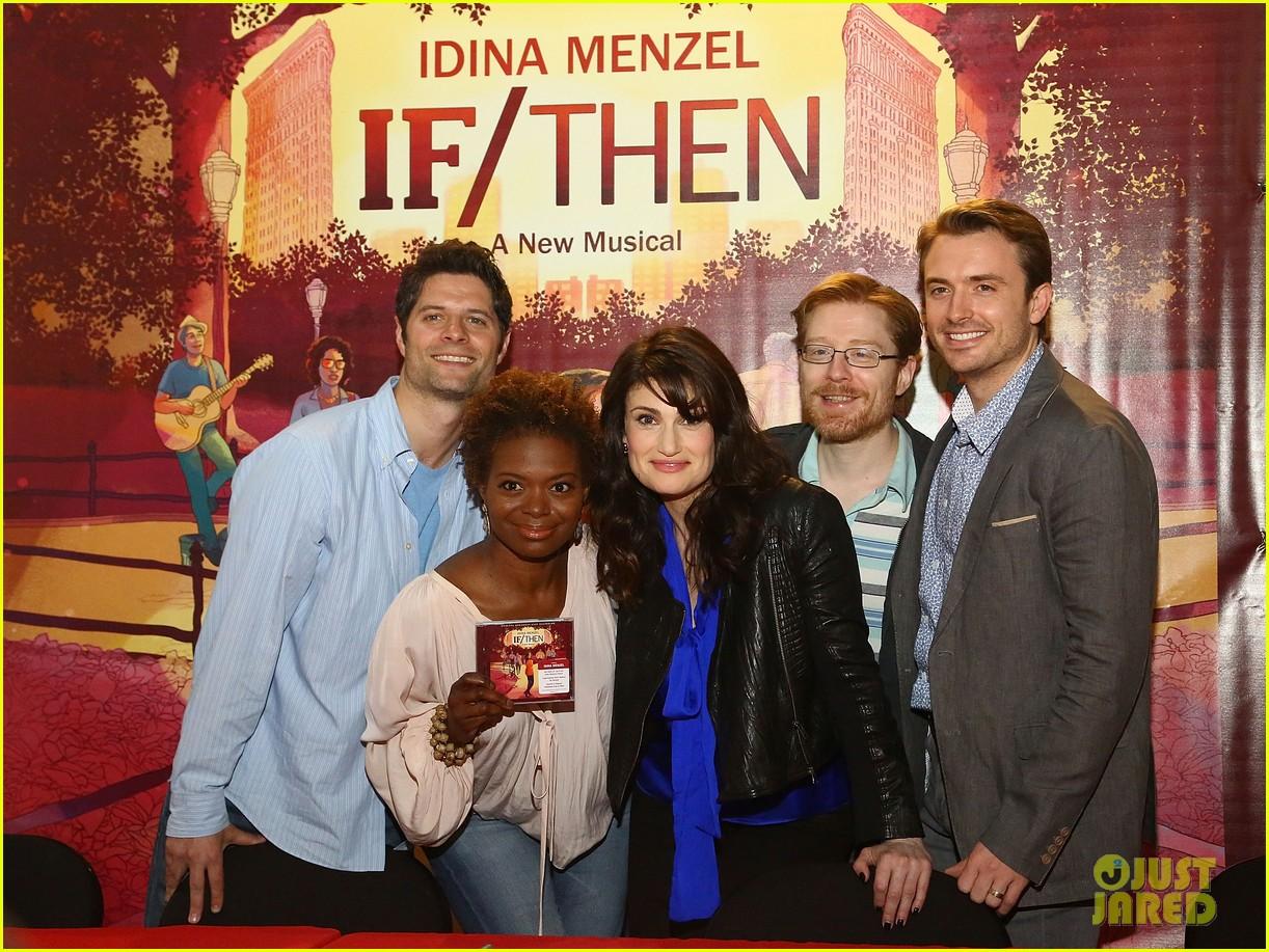 idina menzel debuts new bangs at if then cd signing 043134083