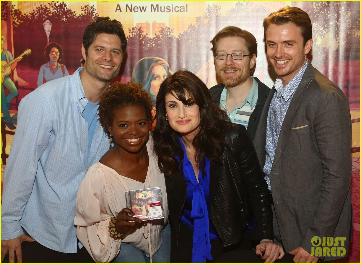 idina menzel debuts new bangs at if then cd signing 143134093