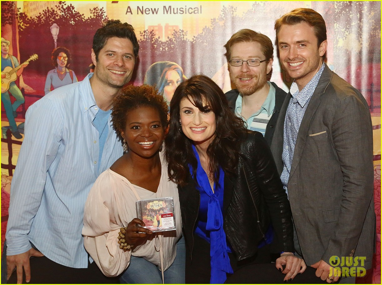 idina menzel debuts new bangs at if then cd signing 153134094